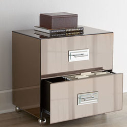 Horchow - Lexington File Cabinet - If sleek, modern, and contemporary define your decorating ...
