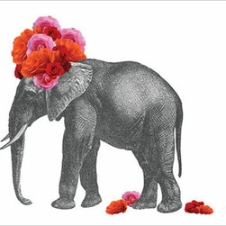 Elephant Print - I have this print and I'm just looking for the perfect spot to place it. I like the quirkiness of it.