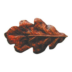 Lodge & Nature Hardware - Oak Leaf Knob in Brass Hand Tinted from Notting Hill Decorative Hardware