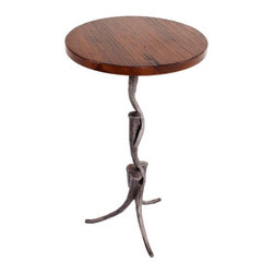 """Charleston Forge - Tangle Drink Pedestal, Charcoal, Maple 