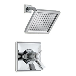 Delta - Delta T17T251 Dryden TempAssure 17T Series Shower Trim (Chrome) - Delta T17T251 Dryden Collection offers a design style reminiscent of the Art Deco period  with geometric line for a clean and appealing addition to you design style. The Delta T17T251 is a Tempassure Shower Only Trim in Chrome.
