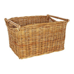 Eco Displayware - Large Newspaper Rattan Bin in Natural - Great for closet, bath, pantry, office or toy and game storage. Earth friendly. 23.5 in. L x 17 in. W x 13.5 in. H (19.61 lbs.)These natural colored baskets add warmth and charm and keep you organized.