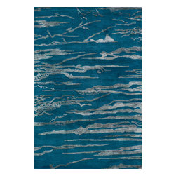 Momeni Rug - Momeni Rug Zen 8' x 11' ZEN-2 Cobalt ZEN00ZEN-2CBT80B0 - Bring tranquility to any modern living space with the beautiful Zen Collection. Quietly appealing designs and colors in these hand tufted rugs bring grace and calm to balance out today�s fast paced lifestyle. The Zen Collection is the perfect antidote to the hustle and bustle of modern living and everyone needs a soothing and serene space to escape.