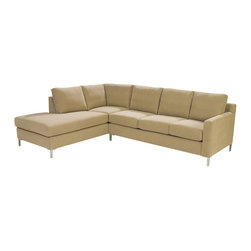 Lazar Industries - Soho Sectional:  Loveseat Chaise and Adjacent 3-Seater Sleeper Sofa - Soho Sectional:  Loveseat Chaise and Adjacent 3-Seater Sleeper Sofa:  Lazar's most popular and customizable stlye, the Soho offers modern luxury in a compact package.