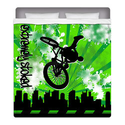 Extremely Stoked BMX Queen Size Sheet Set - Our BMX Queen Size Sheet Set is made of a lightweight microfiber for the ultimate experience in softness~ extremely breathable!