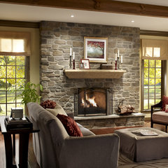 traditional fireplaces by Eldorado Stone