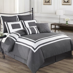 Lux-Decor Down Alternative Comforter Set, Gray, California King - Wrap yourself in the Softness of the Lux Decor Comforter Set found in World Class Hotels. Comfort, quality and opulence sets our luxury bedding in a class above the rest. Elegant yet durable, their softness is enhanced with each washing.
