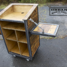 Industrial Bar Carts by Urban Wood & Steel llc