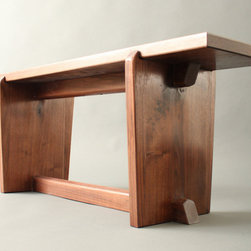 Japanese Style Gallery Entry Walnut Bench Metropolitan Museum of Art - MadeByGideon on Facebook - look me up and like me!