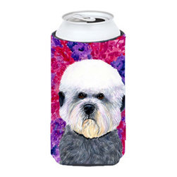 Caroline's Treasures - Dandie Dinmont Terrier Tall Boy Koozie Hugger - Dandie Dinmont Terrier  Tall Boy Koozie Hugger Fits 22 oz to 24 oz cans or pint bottles.  Great collapsible koozie for  Energy Drinks  or large Iced Tea beverages.  Great to keep track of your beverage and add a bit of flair to a gathering.  Match with one of the insulated coolers or coasters for a nice gift pack.  Wash the hugger in your dishwasher or clothes washer.  Design will not come off.