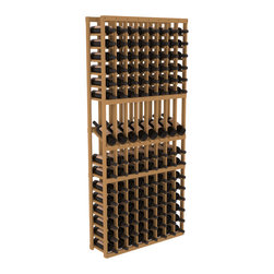 Wine Racks America - 8 Column Display Row Wine Cellar Kit in Pine, Oak Stain - Make 8 of your best vintages a focal point in your wine cellar. This display rack can store up to 11 wine cases. Features our industry exclusive solid display trays with high-reveal. Our wine cellar kits are designed to emphasize durability and elegance. You'll be satisfied. We guarantee it.