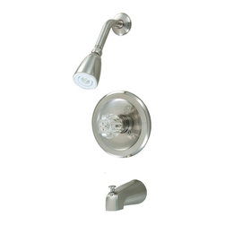 Crystal Cove - Crystal Cove 12-2597 Satin Nickel Tub / Shower Combo Faucet - Single Handle Design
