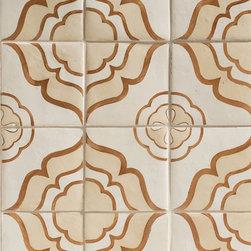 Duquesa Jasmine Decorative Field Tile in Ambra - Ceramic and Terracotta