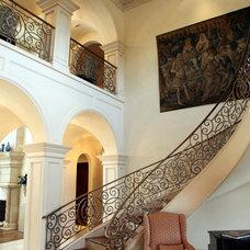 Mediterranean Staircase by L. Lumpkins Architect, Inc.