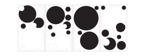 RoomMates - Black and White Chalkboard Dots Peel & Stick Wall Decals - Our black & white dots combine style and functionality. From a visual standpoint, these wall stickers have a simple, sophisticated cool. From a practical standpoint, you can use them as a genuine message center: write with chalk on the black dots and with a dry erase marker on the white ones. Brilliant! Makes the perfect addition to a kitchen, bedroom, or even the office.