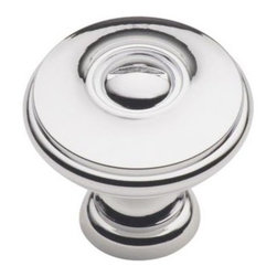 Cliffside Industries B600-PC Cabinet Knob - Artisan Series - Polished Chrome Fin - This polished chrome finish cabinet knob with flat round top and dummy screw is part of the artisan suite hardware collection from Cliffside Industries and is a perfect blend of craftsmanship in traditional and contemporary design to complement any decor.