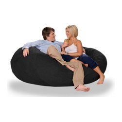 "jaxx - Cocoon Bean Bag Sofa - Features: -100% Shredded furniture grade urethane foam / nylon liner / polyester microsuede / premium microfiber exterior cover.-Luxury oversized foam filled bean bag chair.-Extremely versatile.-Lay it flat, turn it on its side or flip it up.-Liners are nylon rip stock with a child safety zipper.-Covers zip off for machine washing.-When flat it's a round crash pad perfect for hanging out, playing with the kids, watching TV or just dozing off.-Turn it on its side it's literally a cocoon.-Envelop yourself in an ergonomic lounge, legs up, neck supported, totally in sync with your every movement.-It's a retro beanbag style chair ready to kick back and snuggle with your honey.-Made in the USA.-Collection: Jaxx Bean Bags.-Distressed: No.-Material: Microsuede.-Fill Included: Yes -Fill Material: Urethane foam..-Removable Cover: Yes.-Product Care: Removable cover: machine wash cold, tumble dry..-Country of Manufacture: United States.Dimensions: -Overall Height - Top to Bottom: 27"".-Overall Width - Side to Side: 72"".-Overall Depth - Front to Back: 72"".-Overall Product Weight: 50 lbs.Warranty: -Product Warranty: 1 year manufacturer parts warranty."