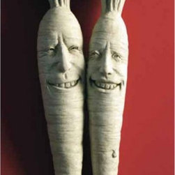 Carruth Studio - Bunches of Fun Wall Plaque - 1107 - Shop for Wall Art from Hayneedle.com! Add this charming carrot couple to your kitchen patio or garden! The Bunches of Fun Wall Plaque is a lively addition to any setting with their two smiling faces spreading a little joy to all who pass by. These two whippersnappers are so detailed they look freshly pulled from the ground. Skilled craftsmanship is at the root of their startling detail. This ornament is crafted of cast stone by a skilled sculptor with over 25 years of experience. A variety of finishes are available to best match your home.About Carruth StudioWe've chosen to carry Carruth Studio designs based on their integrity and authentic dedication to aesthetics. Since 1983 sculptor George Carruth has been creating whimsical images out of limestone concrete and clay all with one thing in common: the ability to make people smile. With a nod toward the world of nature Carruth's signature works include a menagerie of bunnies cats frogs and other delightful creatures flowers angels celestial bodies and magical beings. The company is located in Ohio. We think you'll find Carruth designs lovely and interesting a perfect choice for your outdoor area.