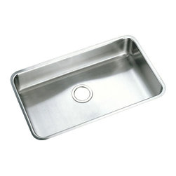 Elkay - Elkay PLAUH281612 Single Basin Undermount Utility Sink - PLAUH281612 - Shop for Commercial Laundry and Utility from Hayneedle.com! The Elkay PLAUH281612 Single Basin Undermount Utility Sink provides an extra-wide basin that's ideal for large laundry rooms utility rooms and kitchens. The unit is made from sturdy 18-gauge stainless steel and comes finishes in a beautiful satin. The basin features curved edges and undermounts easily to any solid-surface countertop. The basin is 10-inches deep and features a sound-guard undercoating that reduces the noise of running water. About Trumbull IndustriesFounded in 1922 as a single branch plumbing supply house Trumball Industries has evolved over the years in to a privately held corporation and full-line distributor with specialized divisions. With 6 branch locations Trumball Industries has several divisions: an Industrial Division that provides products and services to industrial manufacturers a Home Center Division that offers expertise in all major kitchen and bath products a Municipal Division that offers a full line of water and sewer products and a Master Distribution Center with 500 000 square feet housing over 80 000 products. Aside from providing quality services to their customers the people at Trumbull Industries are happy provide a tour of any of their facilities as well as assist you with any design layout or purchasing decisions.