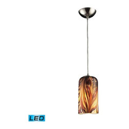 Elk Lighting - Elk Lighting 544-1MS-LED Molten 1-LED Light Pendant with Molten Sunset - Elk products are highly detailed and meticulously finished by some of the best craftsmen in the business.