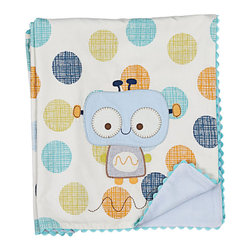 Lolli Living - Cotton Velour Bot Baby Blanket - Cotton Velour Bot Baby Blanket