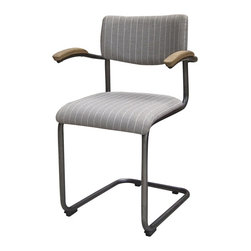 Four Hands - Quinn Dining Chair - Twill - Balancing dramatic scale with flea marketing-find design, the Irondale Collection offers comfortable seating in fresh lines.