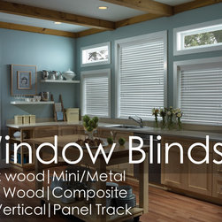 Window Blinds - Window Blinds by Shades Shutters Blinds: Starting at $15.60 for our Economy Mini Blinds! Featuring Faux Wood & Composite Blinds, Real Wood Blinds,  Vertical Blinds, Panel Track Blinds, Metal Blinds & Sheer Blinds!