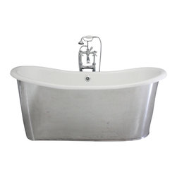 "Penhaglion - 'The Westminster68' 68"" Cast Iron French Bateau Tub Package from Penhaglion - Product Details"
