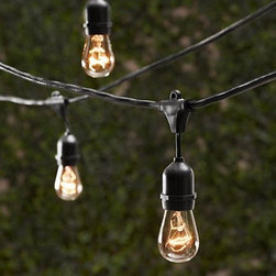 Outdoor Decorative Patio String Lights - 48 FT Long - Includes Bulbs -