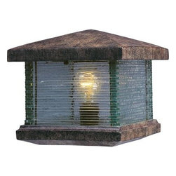 Maxim Lighting - Maxim Lighting 48736CLET Triumph VX 1-Light Outdoor Deck Lantern In Earth Tone - Features