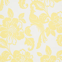 Romosa Wallcoverings - White / Yellow Modern Floral Spring Garden Wallpaper - - This is a non woven wallpaper. Easy to hang.