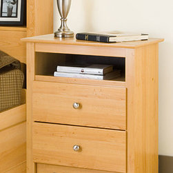None - Montego Maple 2-drawer & Open Cubbie Nightstand - Enrich your bedroom furniture collection with this classic pieceNightstand constructed of durable composite woods,no plastic edgebandingStylish maple finish blends with any home decor