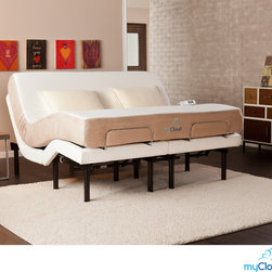 Upton Home - myCloud Adjustable Bed California King-size with 10-inch Gel Infused Memory Foam - The adjustable bed by myCloud provides hassle free construction and offers structural integrity, quality and luxury. Featuring the latest in gel technology, the myCloud gel infused memory foam mattress creates the most enjoyable sleeping experience around