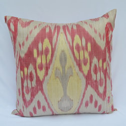 ikat pillow covers, ikat, ikat cushion, yellow ikat, blue ikat, red ikat, ikat -