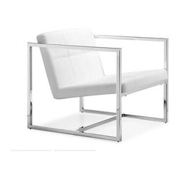 Zuo Modern - Carbon Lounge Chair by Zuo Modern, White - Carbon Lounge Chair by Zuo Modern