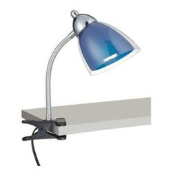 Illumine - Desk Lamps: Designer Collection 12 in. Chrome Desk Lamp with Blue Acrylic Shade - Shop for Lighting & Fans at The Home Depot. This 1-Light Desk and Task Light, part of the Designer Collection, offers a trendy solution that is sure to satisfy all your lighting needs. This Desk and Task-Light combines unique styling and excellent quality to create the perfect blend that will exceed your expectations. Combining a Chrome Finish with Blue Acrylic Shade, this functional yet stylish fixture will add a renewing element in various decor settings.