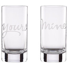 modern everyday glassware by kate spade