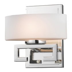 Z-Lite - Z-Lite 3011-1V Cetynia 1 Light Bathroom Sconce with Matte Opal Glass Shade - Features: