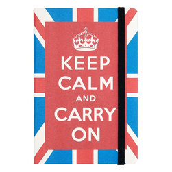 Keep Calm Cavallini Journal - Keep organized while remembering to keep calm and carry on. This cheerful and British journal will be something you'll enjoy looking at on your desk. It's a great size to fit into your purse or laptop bag when you're on the go as well.