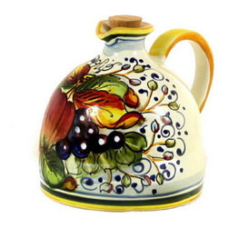 Artistica - Hand Made in Italy - Frutta: Olive Oil Bottle 'Big Belly' - Frutta Collection: