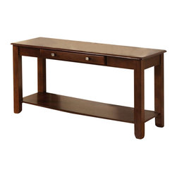 Steve Silver - Nelson Sofa Table - Cherry - Bring style and function into your home with the Nelson collection. This sofa table features one drawer for storage and a bottom shelf for magazines all wrapped in cherry finish.