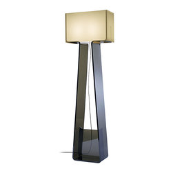 Pablo Designs - Tube Top Floor Lamp in White/Charcoal - Features: