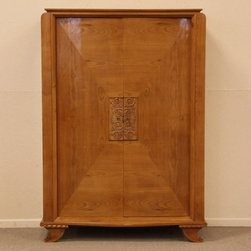Midcentury Or Art Deco Cherry Armoire - Don't fabulous clothes deserve to be stored in a fabulous armoire?