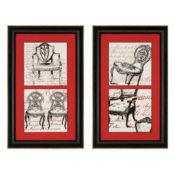 Paragon - Script Chairs PK/2 - Framed Art - Each product is custom made upon order so there might be small variations from the picture displayed. No two pieces are exactly alike.