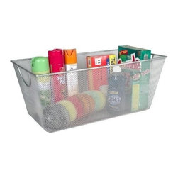 Design Ideas - Design Ideas Mesh Storage Bins, X-Large - Our X-Large sized Mesh Storage Bins by Design Ideas, are made from stainless steel wire, so they are sure not to rust and will become a staple item in your home. These are great for garages, kitchens, or any other room in need of organizing.