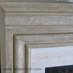 Good things come in 3′s - The home had 3 white mantels that needed to be transformed with artistic finishes. The objective was to give each one a unique personality that would elevate them beyond ordinary.