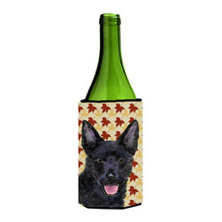 Caroline's Treasures - Australian Kelpie Fall Leaves Portrait Wine Bottle Koozie Hugger - Australian Kelpie Fall Leaves Portrait Wine Bottle Koozie Hugger Fits 750 ml. wine or other beverage bottles. Fits 24 oz. cans or pint bottles. Great collapsible koozie for large cans of beer, Energy Drinks or large Iced Tea beverages. Great to keep track of your beverage and add a bit of flair to a gathering. Wash the hugger in your washing machine. Design will not come off.