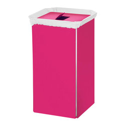 WS Bath Collections - Laundry Basket with Bag in Fuchsia - Modern/contemporary design. Designer high end quality. Warranty: One year. Made from powder coated aluminum. Made in Italy. No assembly required. 13.8 in. W x 11.8 in. D x 23.6 in. H (12 lbs.). Spec SheetUnique and fine bath accessories and complements, that provide inspirational solutions for every decor.