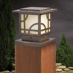 Kichler Lighting - Kichler Lighting 15474OZ Larkin Estate 1 Light Deck/Step Lighting in Olde Bronze - Post Light