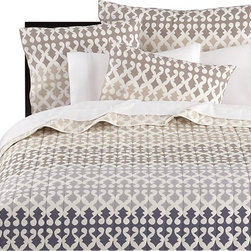 Jaipur Bed Linens Coverlet - Add some exotic style to your bedroom with this block print-inspired duvet cover. While the palette is neutral, the print is anything but.